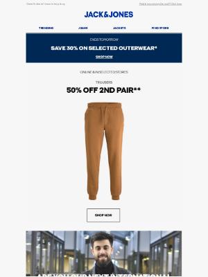 Jack & Jones (UK) - Trousers   Still 50% off your second pair