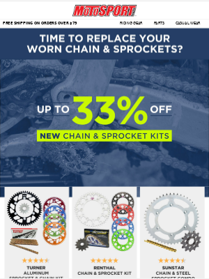 Time To Replace Your Worn Chain & Sprockets?
