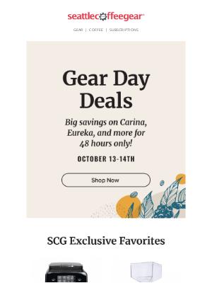 Seattle Coffee Gear - 48-HOURS ONLY!Huge Gear Day Savings!🎉