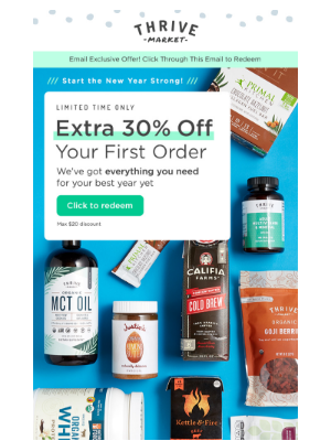 Get a jump on 2019 with EXTRA 30% off!