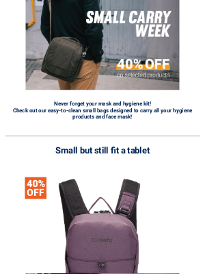 Pacsafe - Need a small bag to carry your daily hygiene kit? Shop Now!
