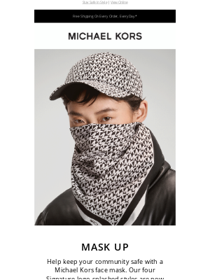 Michael Kors - Just In: Michael Kors Face Masks