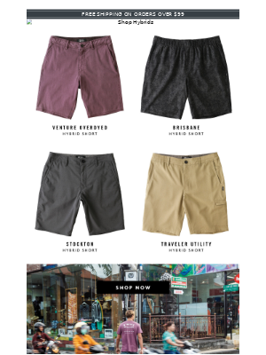 Our Best Travel Shorts & New Graphic Tees