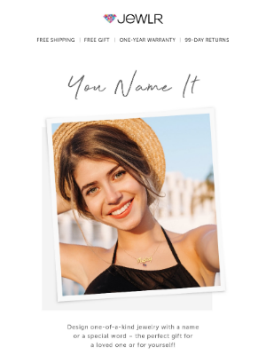 You Name It! Create A Personalized Piece For Yourself Or Someone You Love