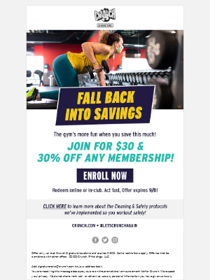 Crunch Fitness - Fall Back Into Savings