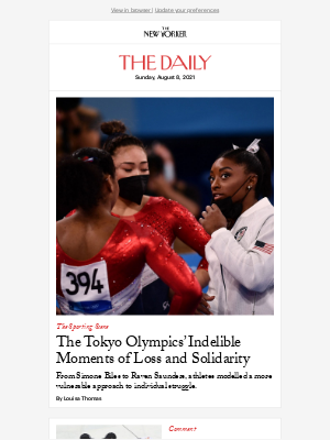 New Yorker - The Tokyo Olympics' Indelible Moments