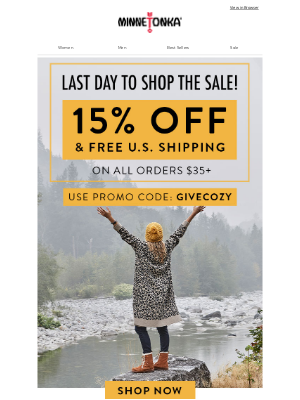 Minnetonka Moccasin - ⏰Hours Left to SHOP 15% Off + FREE U.S. SHIPPING!