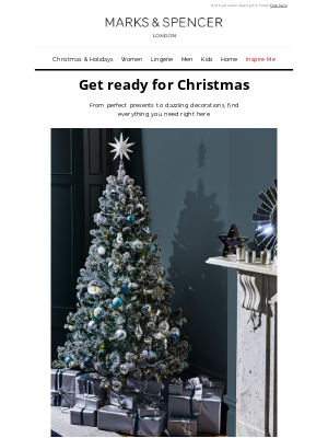 Marks and Spencer USA - Christmas. It's on