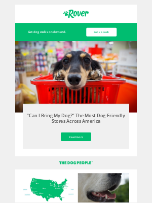 Which stores welcome pets like your dog