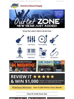 American Musical Supply - Fresh Open-Box Outlet Deals ✨ Hundreds of Items Just Added!