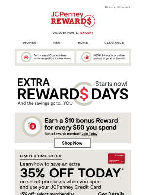 JCPenney - Treat yourself! We're rewarding you with…