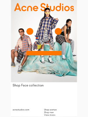 Acne Studios - Just in: Face collection Fall/Winter 2021