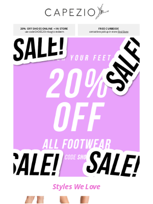 Capezio - 20% OFF ALL FOOTWEAR 😀 cover your feet in & out of studio!