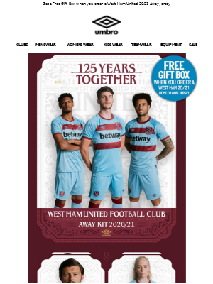 NEW West Ham United 20/21 Away Kit