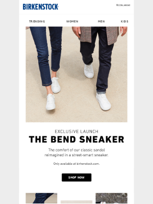 Exclusive Launch: The Bend Sneaker