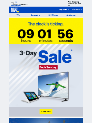 Your inbox just got some more offers - the 3-Day Sale looks pretty amazing...
