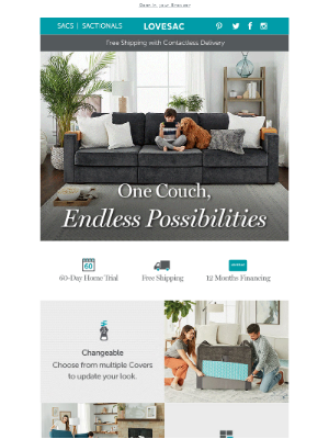 A couch that adapts and evolves along with you.