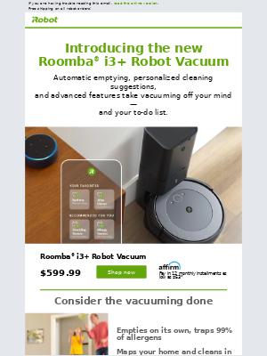 iRobot - Meet the new Roomba® i3+ Robot Vacuum