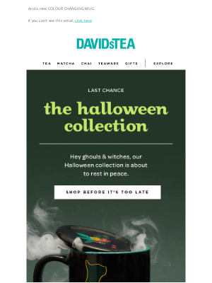 DAVIDsTEA - LAST CALL🎃💀👻 Our limited-edition Halloween collection is leaving
