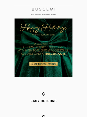 BUSCEMI - Introducing the Holiday Collection