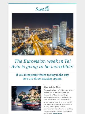 Don't miss the Eurovision week in Tel Aviv 🎤🌈