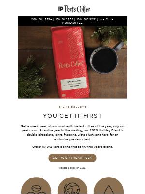 Peet's Coffee - Sneak peek: 2020 Holiday Blend
