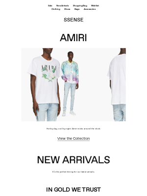 New Arrivals from IN GOLD WE TRUST, Acne Studios, Thom Browne, and Maison Margiela