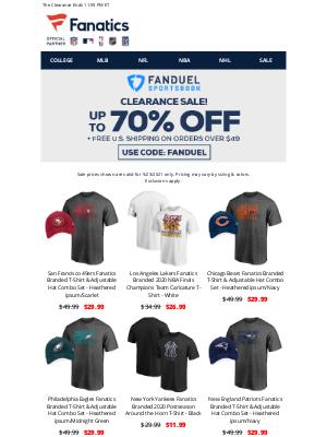Fanatics - LAST CHANCE! Up To 70% Off