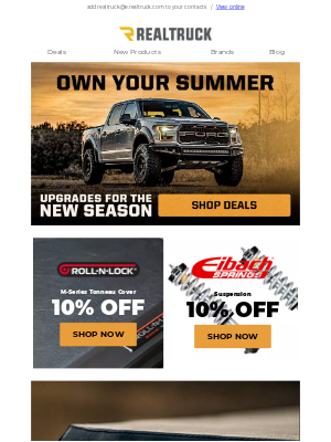RealTruck - It's time to OWN the summer