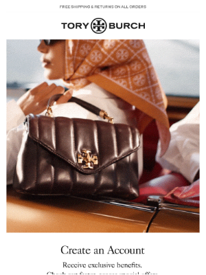 Tory Burch - Create your account today