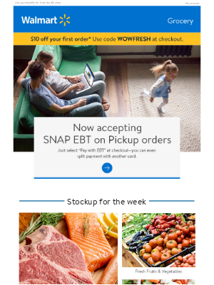 Grocery Pickup now accepts EBT!