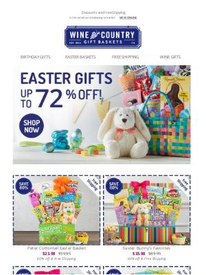 WineCountryGiftBaskets - Unprecedented Easter sale!