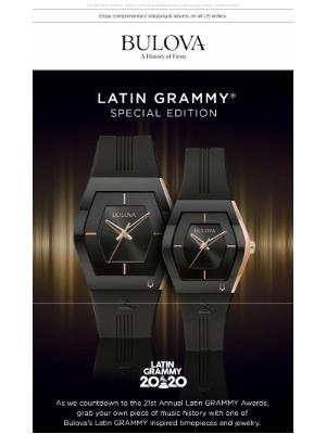 Bulova - This Thursday, Celebrate the 21st Latin Grammy Awards