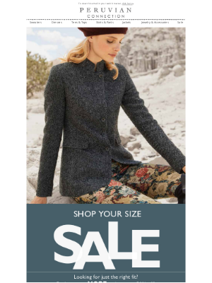 Peruvian Connection - Your Size, On Sale. Up To 50% Off!