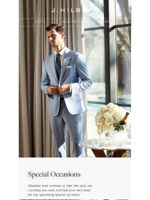 J.Hilburn - Special Occasions are re-booked. Are you ready?