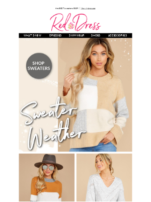 Red Dress Boutique - what's better than sweater weather?!