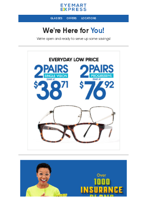 Eyemart Express - Get Clearer Vision Ahead of the New Year!