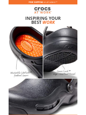 Crocs - 😀 Shift into comfort with updated Crocs at Work™ styles