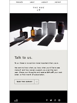 Talk to us.