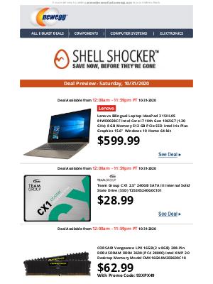 Newegg - Sneak Peek at Saturday's Shell Shocker Daily Deals!