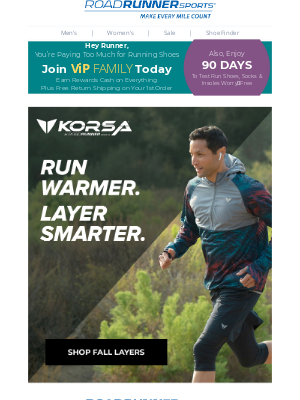 Road Runner Sports - Runner, Slay Cold Weather With These 5 KORSA Layering Must-Haves