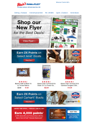 Blain's Farm and Fleet - Shop our New Flyer + Rewards Member Special Offers!