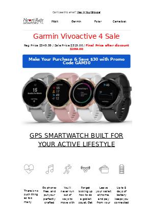 Heart Rate Monitors Usa - 💚🧡 Garmin Vivoactive 4 Offer
