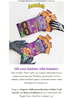 Annie's Homegrown - 🦇 Halloween Snacks Are Back + a Spooky Giveaway 🕸