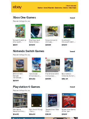 eBay - Xbox One Games, Nintendo Switch Games - shopping ideas for you to consider 💡