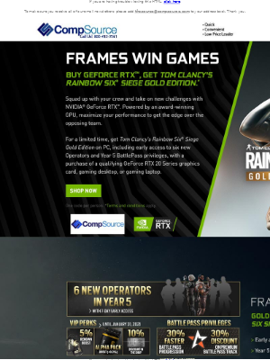 CompSource - Buy any GeForce RTX product and get a FREE game!