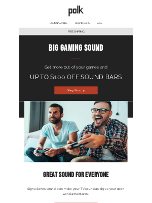 Polk Audio - Big gaming sound