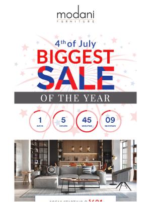 Modani Furniture - Final Days! | 4th of July Sale  🔴 ⚪️ 🔵