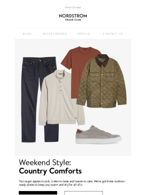 Trunk Club - The great outdoors is calling