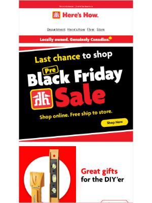 Home Hardware (CA) - Beat the Black Friday rush
